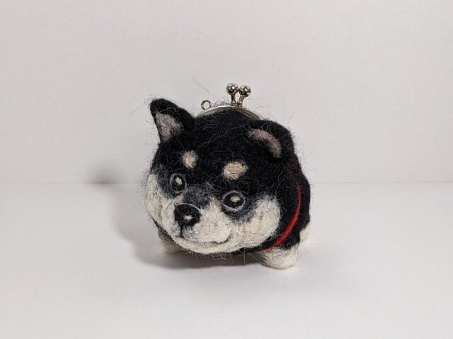 gamainu ※黒柴犬がま口の画像1枚目