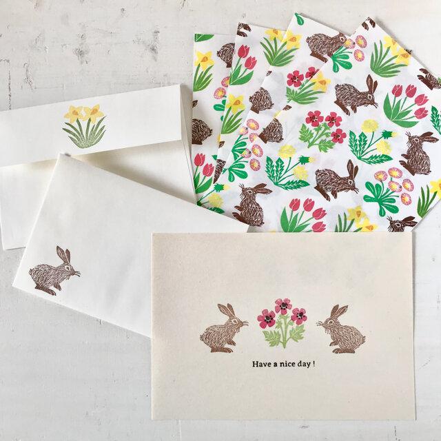 letter set. -spring flowers-の画像1枚目
