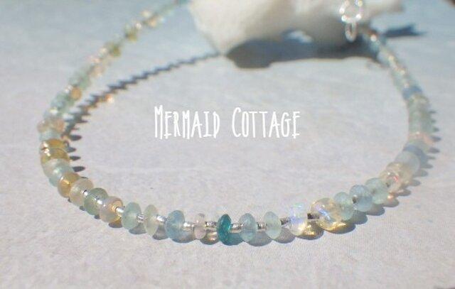 *sv925*Opal with Romanglass & Silver Bracelet  (S) アジャスターの画像1枚目