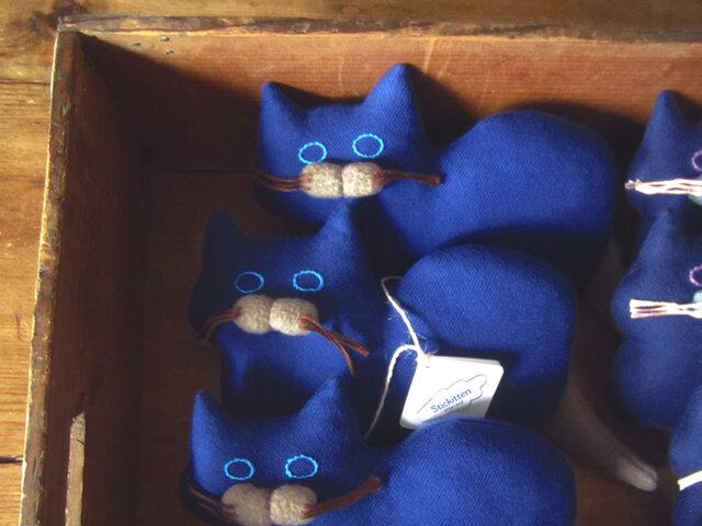 """ Stickitten"" kitten loaf ツイル/ロイヤルブルーの画像1枚目"