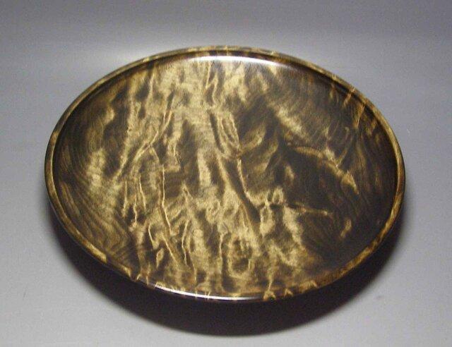 楓斑杢黒漆染めガラスコート仕上げ 盛器の画像1枚目