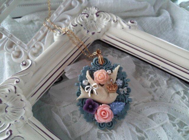 * 鳥の花冠 *  ネックレスの画像1枚目