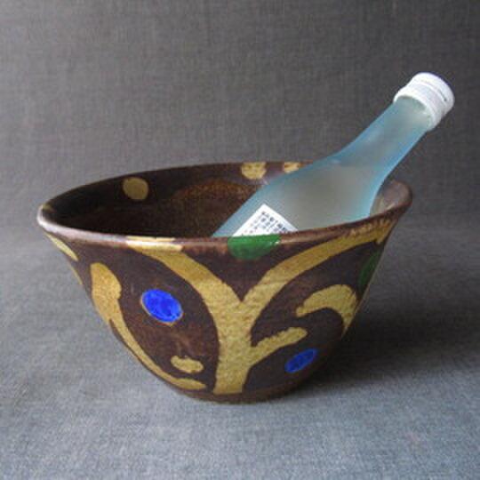 黄瀬戸唐ワインクーラー 陶芸家オリジナル陶器(31)の画像1枚目