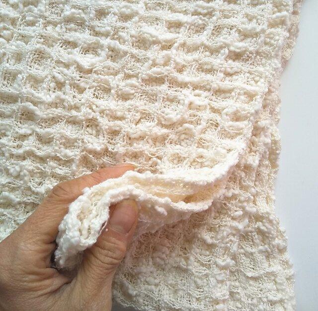 手織りタオル ふわっふわなワッフル織りタオル~コットン の画像1枚目