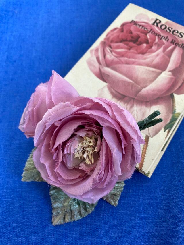 布花 Spring pink rose corsageの画像1枚目