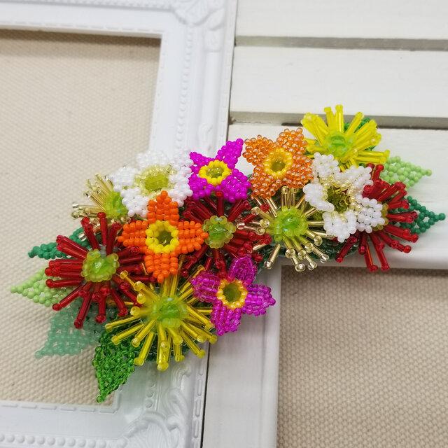 バレッタ Bouquet  (ビビッドガーベラ)の画像1枚目