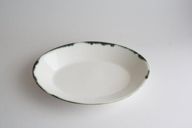 オーバル リム皿 21㎝の画像1枚目