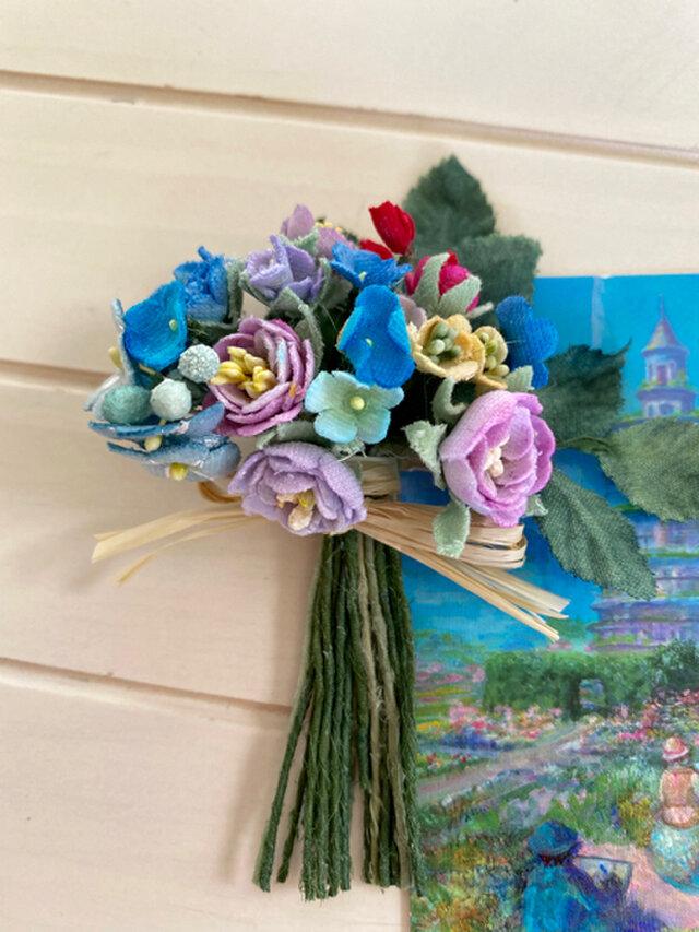 布花Small corsage gift series Pastel flowers Bの画像1枚目