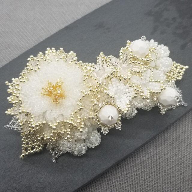 バレッタ Bouquet  (ホワイトピオニー)の画像1枚目