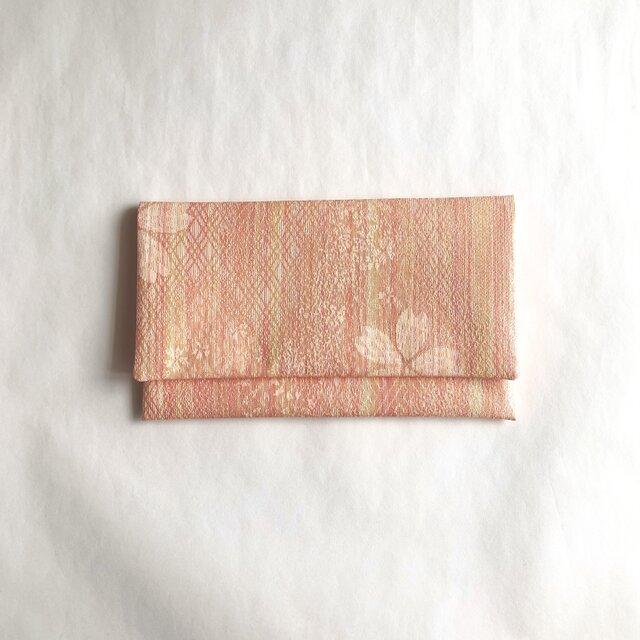絹手染懐紙入れ(縦・薄オレンジ系)の画像1枚目