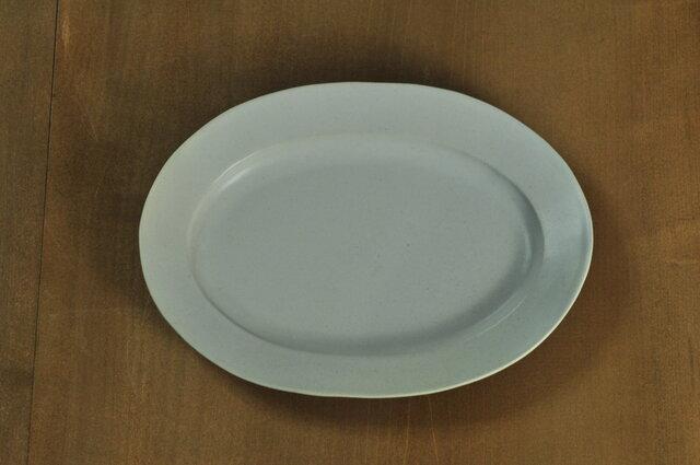 楕円7寸皿/白の画像1枚目
