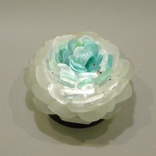 シーグラス 花びらのテーブルランプ-7の画像1枚目