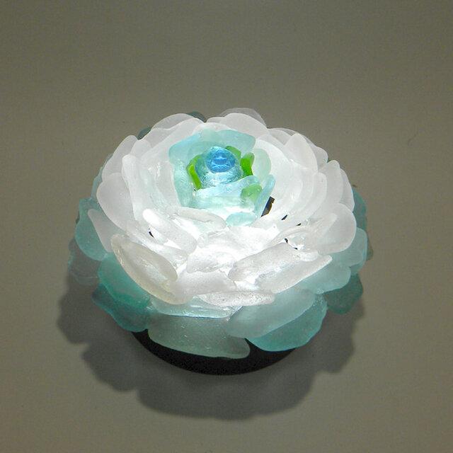 シーグラス 花びらのテーブルランプ-8の画像1枚目