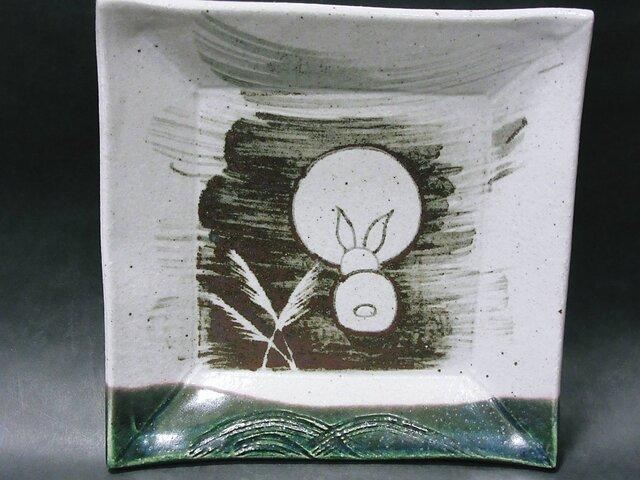 正方形陶板(うさぎ後ろ姿)の画像1枚目