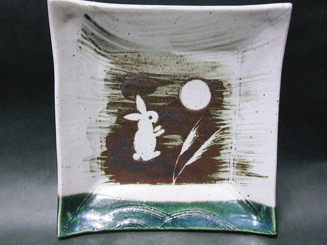 正方形陶板(うさぎ右向き)の画像1枚目