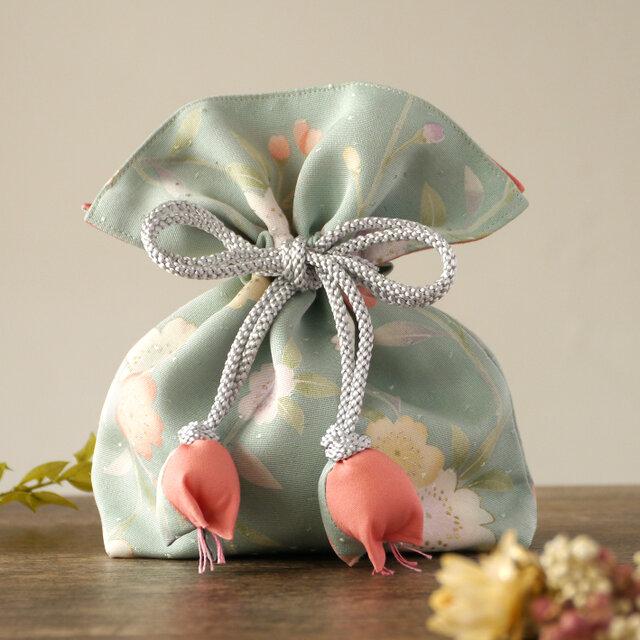 再販 着物 巾着 桜文 幸せを呼ぶFUGUROの画像1枚目