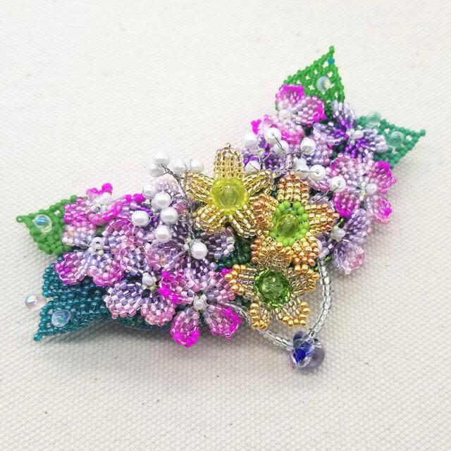 バレッタ Bouquet  (紫陽花02)の画像1枚目