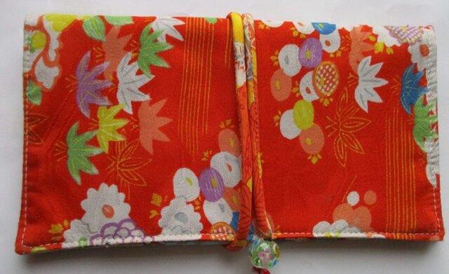 5586 花柄の着物で作った和風財布・ポーチ #送料無料の画像1枚目