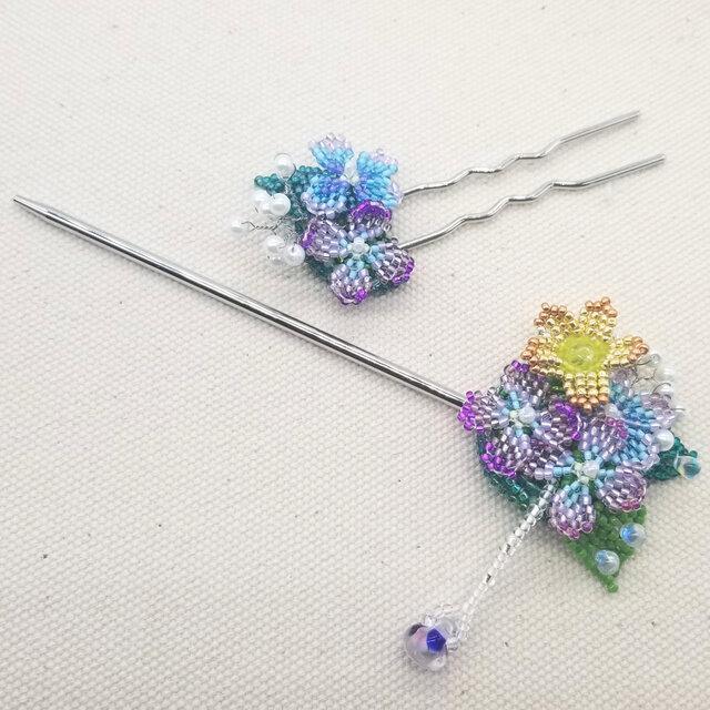 かんざし&Uピンセット Bouquet  (紫陽花01)の画像1枚目