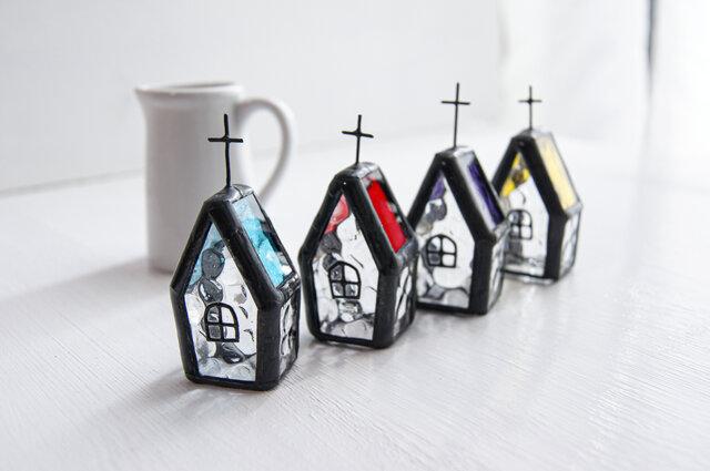『小さな教会』ステンドグラスの画像1枚目