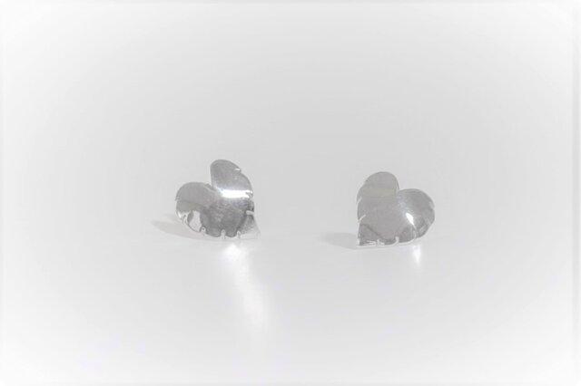 Monstera Silver Earringsの画像1枚目