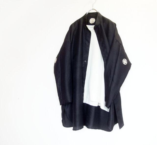 アンティークキモノ de スタンドカラー ワイドシャツ & ワイドプルオーバーの画像1枚目