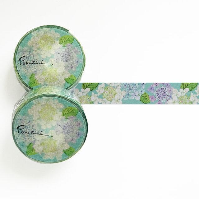 紫陽花のマスキングテープの画像1枚目