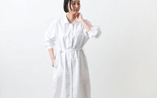 【new】木間服装製作 / longshirt white / unisex 1size / ロングシャツの画像1枚目