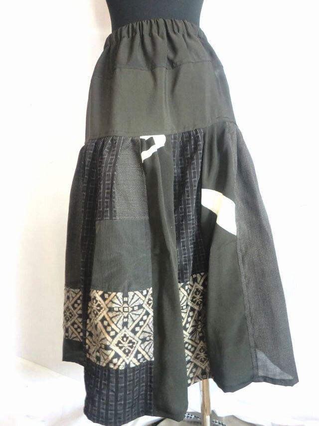 着物リメイクスカート  1387の画像1枚目