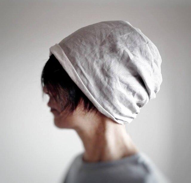 ターバンな帽子 ナチュラルリバーシブル 送料無料の画像1枚目