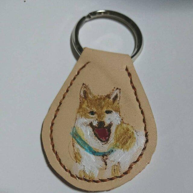 可愛い柴犬のキーホルダーの画像1枚目