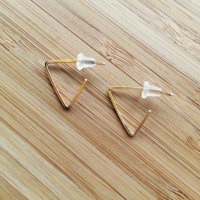 三角ピアス【14KGF】の画像1枚目