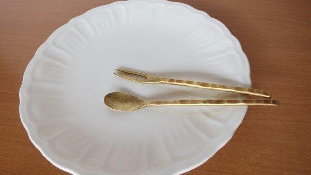 ティースプーン・ピッカーセット(真鍮)の画像1枚目