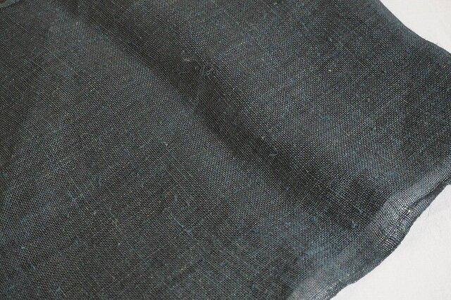 asa0025B 麻布 蚊帳の解き100cm 藍染☆古布古裂/木綿/筒描き/型染め/藍染/絹/ボロ襤褸の画像1枚目