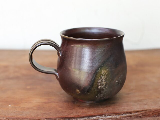 備前焼 コーヒーカップ(大) c8-098の画像1枚目