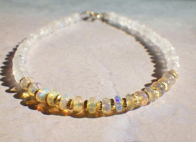 14kgf*Opal & Moonstone Bracelet オパール&ムーンストーンの画像1枚目