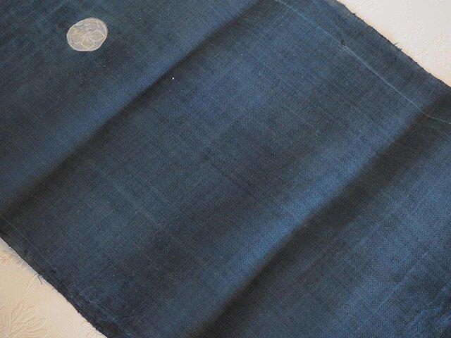 asa0046 色麻布 300cm 古布古裂/木綿/筒描き/型染め/藍染/絹/ボロ襤褸の画像1枚目