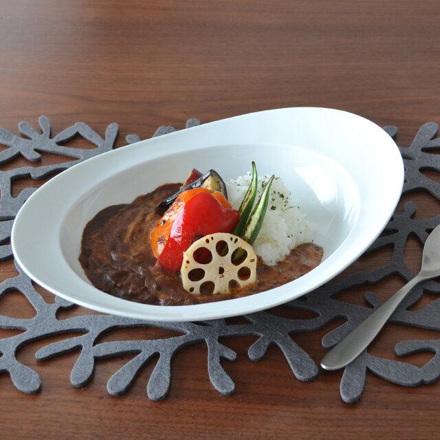 みかわちカレー皿 ブランの画像1枚目