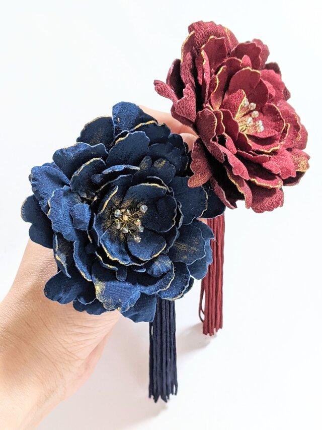 『はるむら様 オーダー品』お花のかんざしセットの画像1枚目