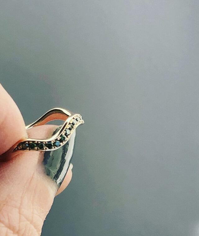 Greem forest k10 diamond ringの画像1枚目