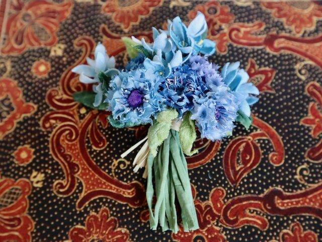 布花Small corsage gift series Blue blue flowersの画像1枚目