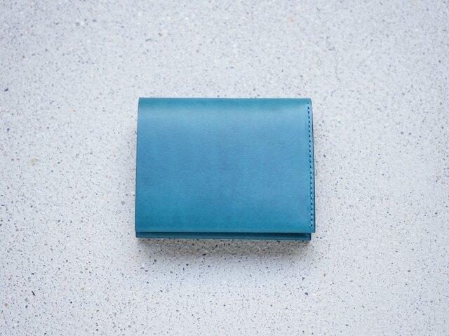 TSUKIKUSA コンパクト二つ折り財布(小銭入れなし)/ブルーの画像1枚目