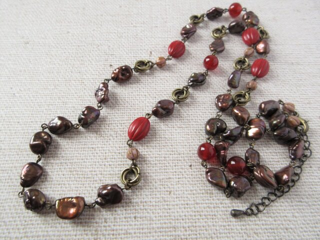 Necklace ケシパール アゲート(N1247)の画像1枚目