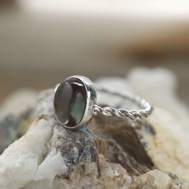 アンデシンのツイストリング Andesine Ring Silver925  #11号 天然石/鉱物/原石/ジュエリー/リングの画像1枚目