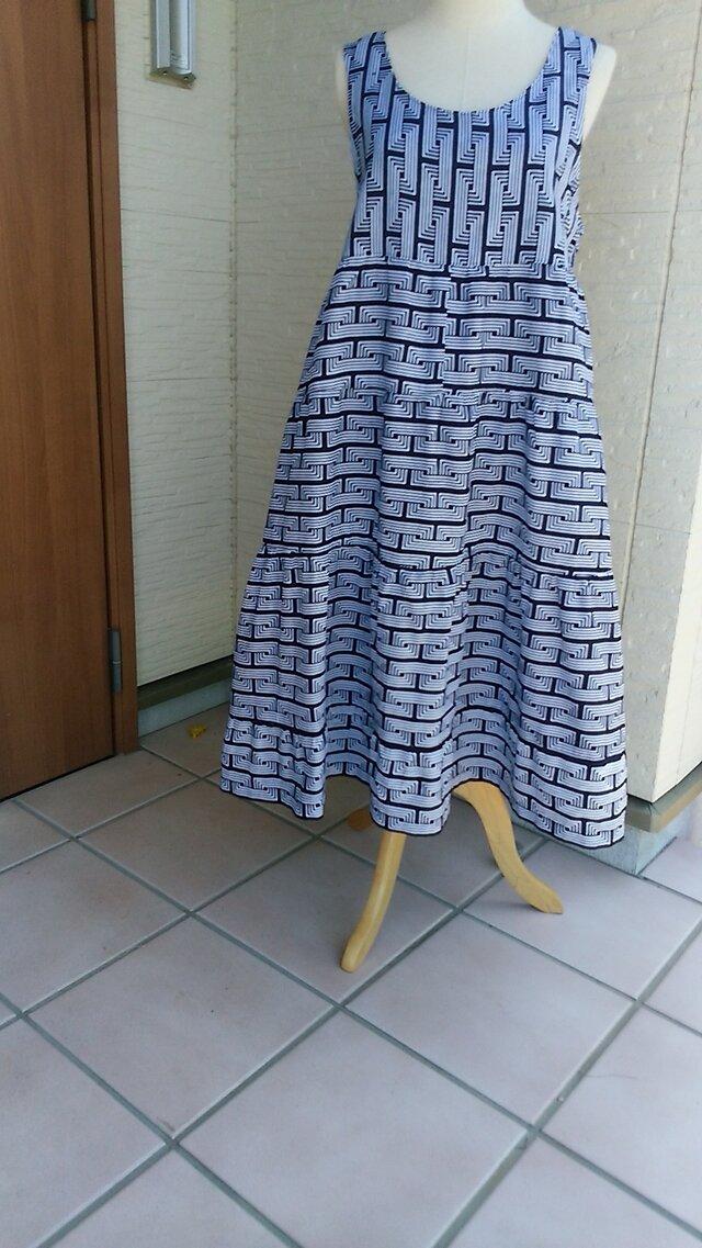 浴衣地リメイク ティアードワンピース  反物からの製作の画像1枚目