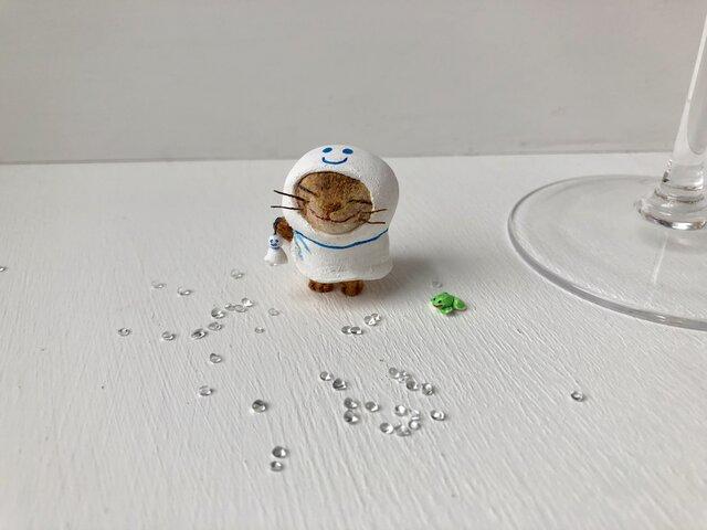 てるてる猫さん キジトラの画像1枚目