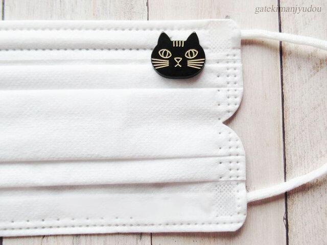 猫のマスクピアス<マグネット式>の画像1枚目