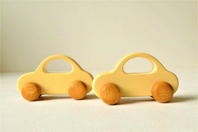 木の車 Bタイプ(クリーム)の画像1枚目