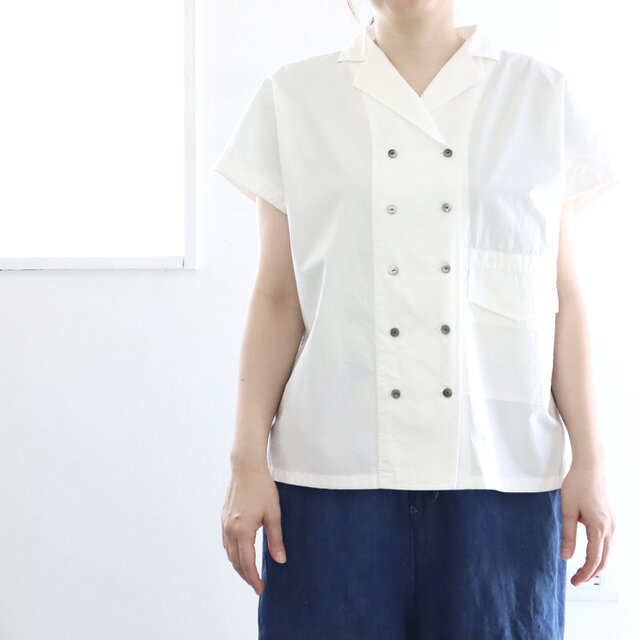 tailored french shirt (w/organic cotton)の画像1枚目