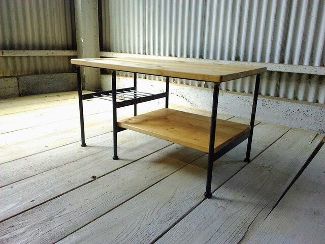 【展示作品】リビングソファローテーブル(as19831020 様オーダーメイド品)(薄い色)の画像1枚目